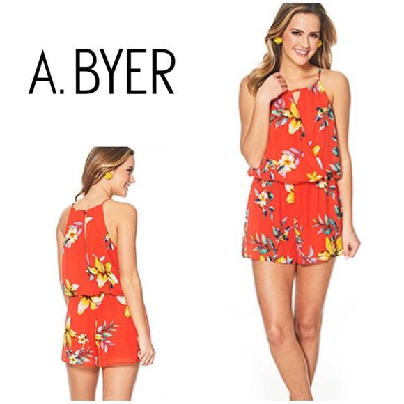 A Byer Womens Juniors Halter Romper